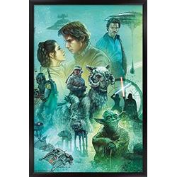 "Trends International Star Wars: The Empire Strikes Back - Celebration Mural Wall Poster, 14.725"" x 22.375"", Black Framed Version"