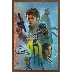 "Trends International Star Wars: Solo - Celebration Mural Wall Poster, 14.725"" x 22.375"", Mahogany Framed Version"
