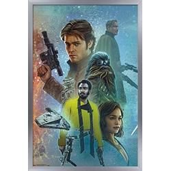 "Trends International Star Wars: Solo - Celebration Mural Wall Poster, 14.725"" x 22.375"", Silver Framed Version"