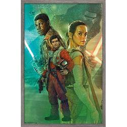 "Trends International Star Wars: The Force Awakens - Celebration Mural Wall Poster, 14.725"" x 22.375"", Barnwood Framed Version"