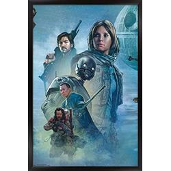 "Trends International Star Wars: Rogue One - Celebration Mural Wall Poster, 14.725"" x 22.375"", Black Framed Version"