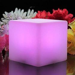 ENAL1 Nuit romantique Bar Mood Light LED Cube lumineux Tabouret Mobilier intérieur coloré créatif Tabourets extérieur Chaise étanche réglable 16 couleurs RVB Lumière Dimmable Sidestool avec télécomman