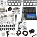 6.0L Revive Kit w/ARP Studs Head Gaskets Oil Cooler Stand Pipes HP Oil Rail Cups Gaskets Coolant Filtration Blue Kit - Fits Ford 6.0L Powerstroke Kit - 2003-2005.5 (18MM) - DK Engine Parts (18-4RA)