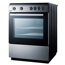"""Summit CLRE24 24"""" 4-Burner Electric Range - Stainless Steel, 220v/1ph"""
