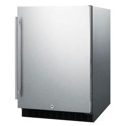 "Summit AL54CSS 24"" W Undercounter Refrigerator w/ (1) Section & (1) Door, 115v"
