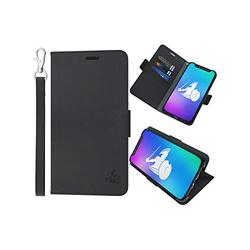 DefenderShield Compatible iPhone 11 Pro Max 5G & EMF Radiation Case - Detachable Magnetic EMF Shield & RFID Blocker Wallet Case w/Wrist Strap - Cell Phone Radiation Protection