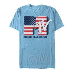 Fifth Sun Men's Tee Shirts LT - MTV Heather Light Blue Rock USA Tee - Men