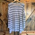 Free People Sweaters | Free People Grey Striped Sweater Great Condition! | Color: Gray | Size: L