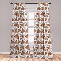 "East Urban Home Pizza Room Darkening Rod Pocket Curtain Panels Size per Panel: 28"" x 84"", Polyester in Beige/Ivory/Cream, Size 63""W X 56""D   Wayfair"