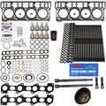 6.0L Revive Kit w/ARP Head Gaskets Oil Cooler Stand Pipes In Ex Gaskets HP Oil Rail Cups - Fits Ford 6.0L 6.0 Powerstroke Kit - 2003-2005.5 (18MM Dowel) - DK Engine Parts (18-3RA)