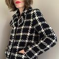 Kate Spade Jackets & Coats | Kate Spade New York Black Plaid Coat Size 4 | Color: Black/White | Size: 4