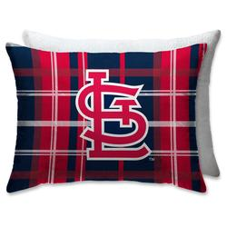 """St. Louis Cardinals Plaid Plush Sherpa Bed Pillow"""
