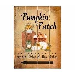 August Grove® Pumpkin Patch Wall Decor in Brown/Green/Yellow, Size 12.0 H x 9.0 W x 1.0 D in | Wayfair BF6230C6FF554171B9958335119A44AE