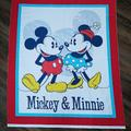 Disney Bedding | Quilt Panel. Classic Mickey And Minnie Mouse | Color: Blue/White | Size: Os