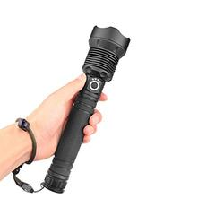 USB Rechargeable LED Flashlight, Tactical Flashlight, 120000 Lumens Telescopic Zoom Waterproof Camping Flashlight with 3 Modes, Torch High Power Zoom Outdoor Flashlight Handheld Torch for Outdoors