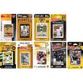 C&I Collectables MLB Pittsburgh Pirates Mens PIRATES918TSMLB Pittsburgh Pirates 9 Different Licensed Trading Card Team Sets, Brown, N/A