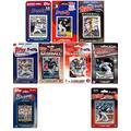 C&I Collectables MLB Atlanta Braves Mens BRAVES918TSMLB Atlanta Braves 9 Different Licensed Trading Card Team Sets, Brown, N/A