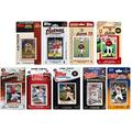 C&I Collectables MLB Houston Astros Mens ASTROS918TSMLB Houston Astros 9 Different Licensed Trading Card Team Sets, Brown, N/A