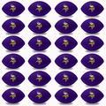 Franklin Sports NFL Minnesota Vikings Stress Balls - Bulk NFL Football Party 24 Pack - Squishy Stress Ball for Adults & Kids - 83MM