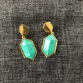 Anthropologie Jewelry   Anthropologie Turquoise Stone Drop Earrings   Color: Gold   Size: Os