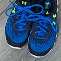 Under Armour Shoes | Blue And Neon Green Under Armour Running Shoes. | Color: Blue/Green | Size: 2y