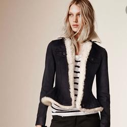 Burberry Jackets & Coats | Burberry Brit Black Pocklington Shearling Jean Jkt | Color: Black | Size: Xs