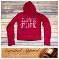 Pink Victoria's Secret Tops   Bling Pink Victoria Secret Hot Pink Hoodie Love   Color: Pink   Size: S