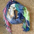 American Eagle Outfitters Accessories | Aeo Multicolor Scarf | Color: Blue/Green | Size: Os