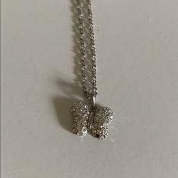 American Eagle Outfitters Jewelry   American Eagle Silver Butterfly Necklace   Color: Silver   Size: 16