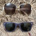 Ray-Ban Accessories   Bundle Marc Jacobs And Ray Ban Sunglass Pair   Color: Purple/White   Size: Os