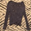 American Eagle Outfitters Sweaters | Aeo Grey With Blue Undertone Oversized Sweater | Color: Blue/Gray | Size: S