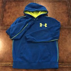 Under Armour Shirts & Tops   Boys Under Armour Hoodie Size Youth Large   Color: Blue/Yellow   Size: Boys Youth Large