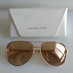 Michael Kors Accessories | Michael Kors Aviator Sunglasses Mk5004 | Color: Gold/Tan | Size: 59-13-135
