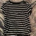 American Eagle Outfitters Tops | American Eagle Short Sleeves Womens Xs | Color: Black/White | Size: Xs