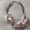 Anthropologie Jewelry   Anthropologie Chainbead Statement Necklace   Color: Gold/Pink   Size: Os