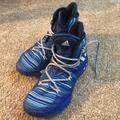 Adidas Shoes   Blue Adidas Basketball Shoes   Color: Blue/White   Size: 9