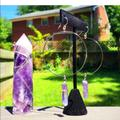 Free People Jewelry | Amethyst Sterling Silver Hoop Earrings | Color: Purple/Silver | Size: Os