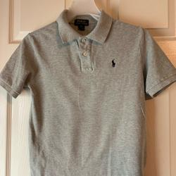 Polo By Ralph Lauren Shirts & Tops | Boys Polo Ralph Lauren Shirt. Gray Shirt Sleeve. | Color: Gray | Size: Mb