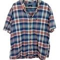 American Eagle Outfitters Shirts   American Eagle Mens Xxl Plaid Button Down Shirt   Color: Blue/Red   Size: Xxl