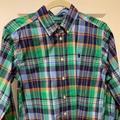 Ralph Lauren Shirts & Tops   Boys Ralph Lauren Plaid Button Down Long Sleeve   Color: Blue/Green   Size: L (14-16)