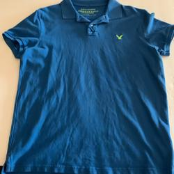 American Eagle Outfitters Shirts   American Eagle Outfitters Mens Polo Shirt Blue L   Color: Blue   Size: L