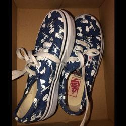 Vans Shoes | Blue Vans Snoopy Vans Are Size 11 | Color: Blue | Size: 11b