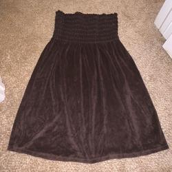 Victoria's Secret Swim   Brown Strapless Swim Cover Up   Color: Brown   Size: M