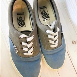 Vans Shoes | Boys Custom Vans Blue Grey Suede Era Pt | Color: Blue/Gray | Size: 6b
