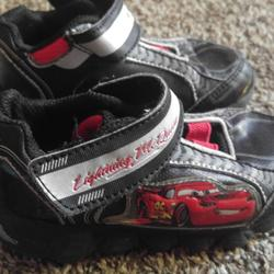 Disney Shoes | 8 Lightning Mcqueen Cars Shoes | Color: Black/Red | Size: 8b
