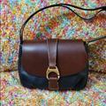 Dooney & Bourke Bags | Black Leather Flap Dooney & Bourke | Color: Black/Brown | Size: Os