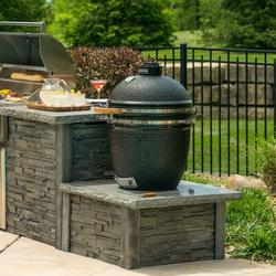 """RTA Outdoor Living 30"""" 1-Piece 1-Burner Charcoal Grill Island Concrete in Gray, Size 17.25 H x 34.0 W x 32.0 D in 