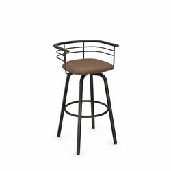 17 Stories Ulrike Swivel Bar & Counter Stool Upholstered/Metal in Brown, Size 33.25 H x 21.5 W x 19.75 D in   Wayfair