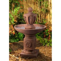 """Classic Urn 43 1/2"""" High Terracotta Tiered Outdoor Fountain"""