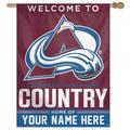 WinCraft Colorado Avalanche Personalized 27'' x 37'' 1-Sided Vertical Banner